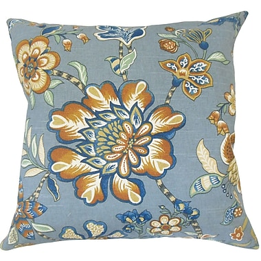 Red Barrel Studio Calie Floral Down Filled 100pct Cotton Throw Pillow; 20'' x 20''