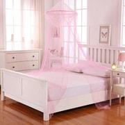 Casablanca Kids Raisinette Kids Collapsible Hoop Sheer Bed Canopy; Pink by