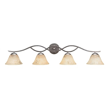 Latitude Run Nikolai 4-Light Vanity Light; Yellow