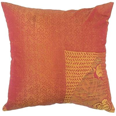 Bloomsbury Market Urijah Graphic Down Filled 100pct Cotton Throw Pillow; 22'' x 22''