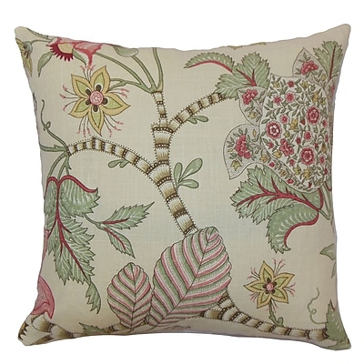 Bayou Breeze Cuyler Floral Square Floor Pillow