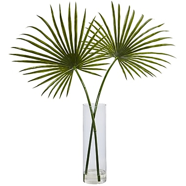 Bayou Breeze Arrangement Floor Palm Plant in Decorative Vase