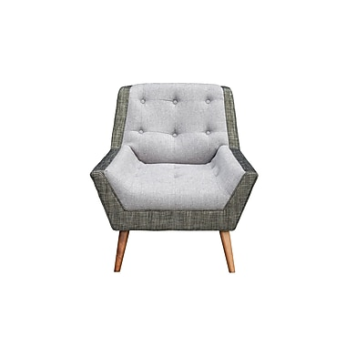George Oliver Highgate Mid Century Modern Living Room Arm Chair; Gray