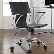 Orren Ellis Morgan Adjustable Mid-Back Desk Chair; Black