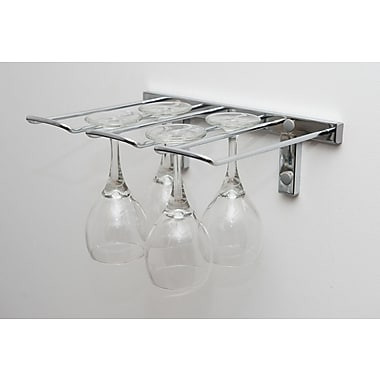 VintageView Stemware Wall Mounted Wine Glass Rack; Chrome