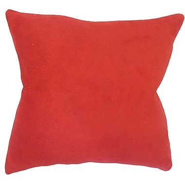 Red Barrel Studio Locindra Solid Down Filled Throw Pillow; 24'' x 24''