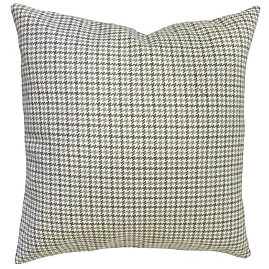 17 Stories Franklyn Houndstooth Down Filled 100pct Cotton Lumbar Pillow