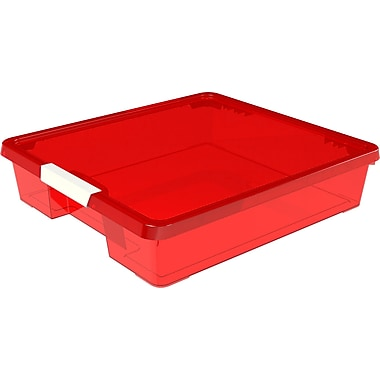 Rebrilliant Stack and Store Plastic Craft Case (Set of 5); Red