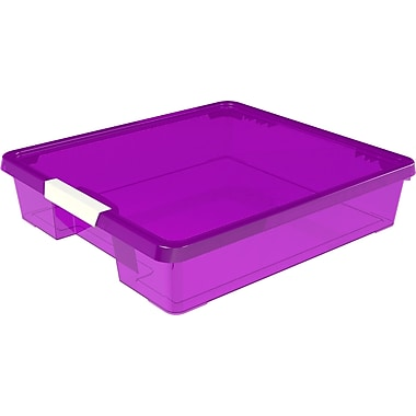 Rebrilliant Stack and Store Plastic Craft Case (Set of 5); Purple