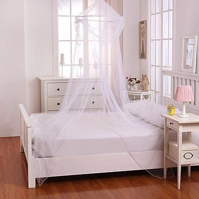 Casablanca Kids Raisinette Kids Collapsible Hoop Sheer Bed Canopy; White