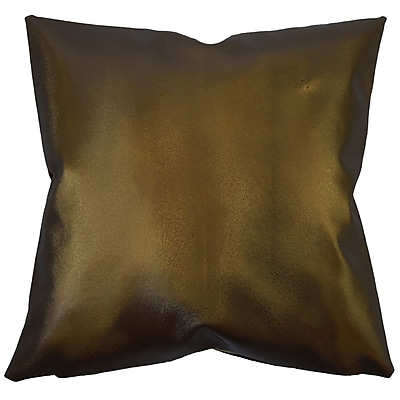 Everly Quinn Huang Glam Solid Down Filled Throw Pillow; 24'' x 24''
