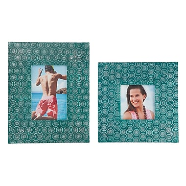 Mistana 2 Piece Picture Frame Set; Green