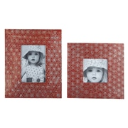 Mistana 2 Piece Picture Frame Set; Red