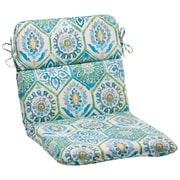 Mistana Dyanna Square Outdoor Chair Cushion; Blue / Turquoise / Coral / White