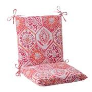 Mistana Dyanna Outdoor Chair Cushion; Pink / Orange / Turquoise / White