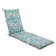 Mistana Dyanna Outdoor Chaise Lounge Cushion; Blue / Turquoise / Coral / White