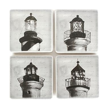 Lighthouse Coaster Set of 4, 6 x 5 x 5.5