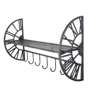 1/2 Clock Wall Shelf with Hooks (9011-AM6556-00)