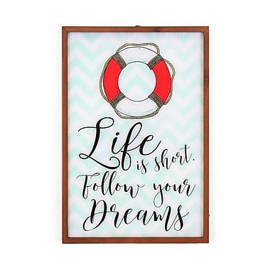 La vie est trop courte... Plaque murale avec lampe (9044-AM5640-00)