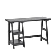 "Afra Computer Desk, 20"" x 46.75"" x 29.5"", Black (3339-AM8595-BK)"