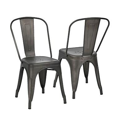Ensemble de 2 chaises pour table à manger en MCP Milehouse, gris métal (3339-AM8662-00)