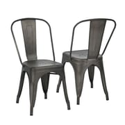 Milehouse MCP Gun Metal Dining Chair, 2/Set (3339-AM8662-00)