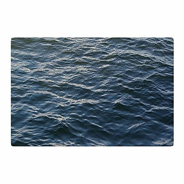 East Urban Home Suzanne Carter Deep Water Nautical Blue Area Rug; 2' x 3'