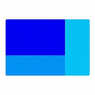 East Urban Home Trebam Bluz V.3 Geometric Blue Area Rug; 2' x 3'