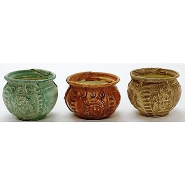 Houston International Handmade Metal Textured Pot Planter Set