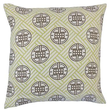 Bloomsbury Market Delit Geometric Floor Pillow Lime; Lime