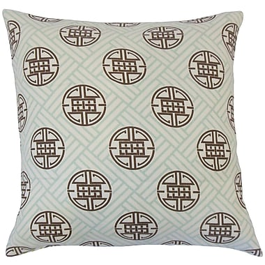 Bloomsbury Market Delit Geometric Floor Pillow Lime; Surf