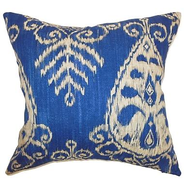 Bloomsbury Market Diahna Ikat Cotton Blend Floor Pillow; Sapphire