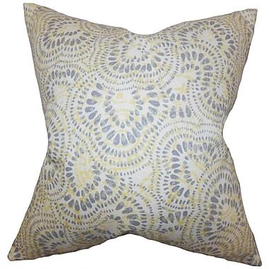 Bloomsbury Market Dian Floral Cotton Blend Floor Pillow; Jonquil