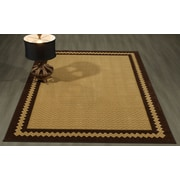Winston Porter Arline Rubberback Brown Indoor/Outdoor Area Rug