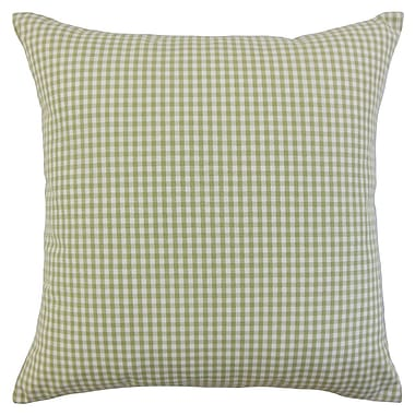 August Grove Noreen Plaid Floor Pillow Aqua; Sage