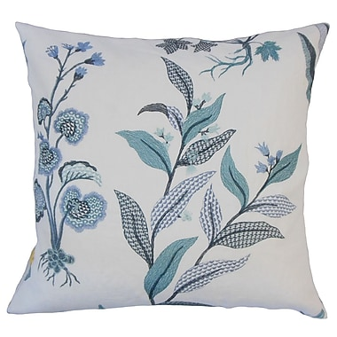 August Grove Rafanan Floral Down Filled 100pct Cotton Throw Pillow; 22'' x 22''
