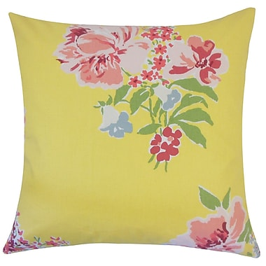 August Grove Pauline Floral Floor Pillow Daffodil; Daffodil