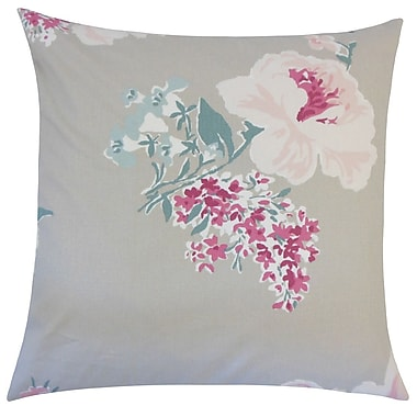 August Grove Pauline Floral Floor Pillow Daffodil; Oyster