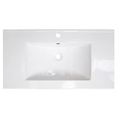 American Imaginations Flair Ceramic 32'' Single Bathroom Vanity Top