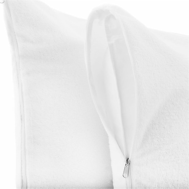 Anew Edit Premium Hypoallergenic 100pct Waterproof Terry Cotton Zipped Pillow Protector (Set of 2)