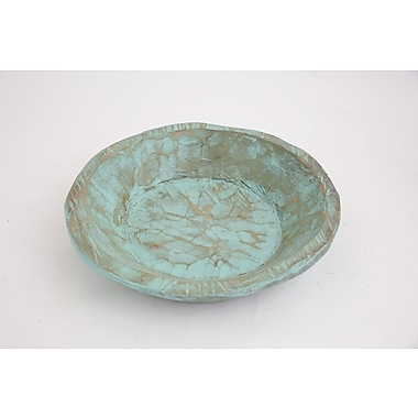 Bloomsbury Market Rustic Round Wooden Dough Decorative Bowl (Set of 30); Mint