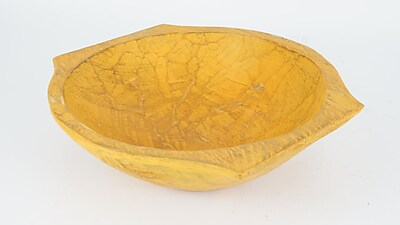 Bloomsbury Market Round Wooden Dough Decorative Bowl (Set of 30); Joyful Orange