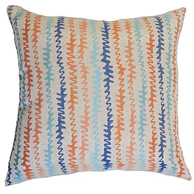 Brayden Studio Carlton Zigzag Cotton Blend Floor Pillow; Harvest