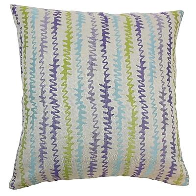 Brayden Studio Carlton Zigzag Cotton Blend Floor Pillow; Kismet