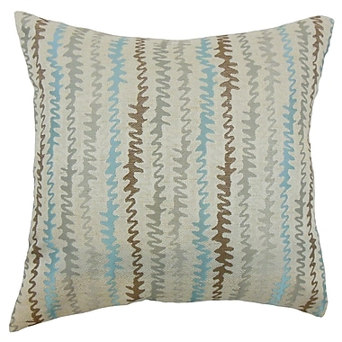 Brayden Studio Carlton Zigzag Cotton Blend Floor Pillow; Placid