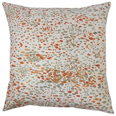 Brayden Studio Davonte Graphic Cotton Blend Floor Pillow; Persimmon