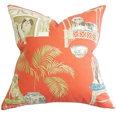 Bayou Breeze Colesville Animal Cotton Blend Floor Pillow; Clay