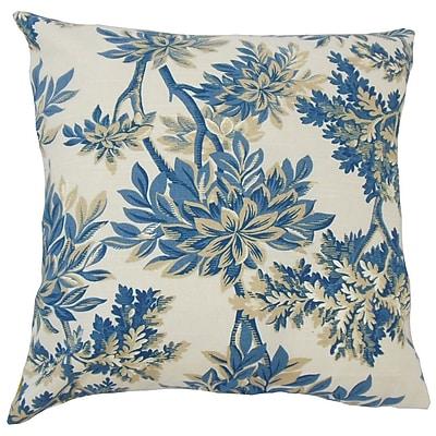 Bayou Breeze Haeli Floral Down Filled 100pct Cotton Lumbar Pillow; Calypso