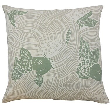 Bloomsbury Market Dormody Graphic Floor Pillow Kelp; Kelp
