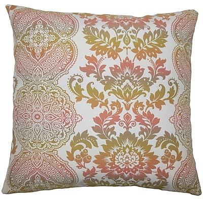 Bloomsbury Market Dreyer Damask Floor Pillow Limestone; Primavera